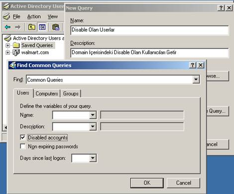 Active Directory Saved Query