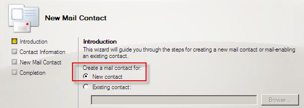 Exchange Server 2007 Üzerinde Distribution Group, Mail Contact, Disconnect MailBox İşlemleri
