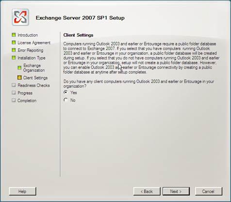 Microsoft Exchange Server 2007 Kurulumu