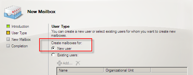 Exchange Server 2007 Üzerinde User, Room, Equipment ve Linked MailBox Oluşturmak