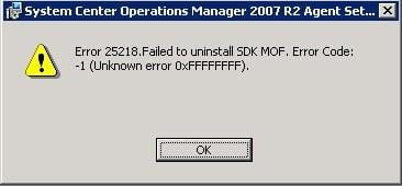 SCOM 2007 R2 Manuel Agent Kurulum Problemi ve Çözümü